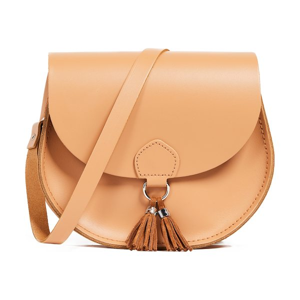 Cambridge Satchel tassel bag in sand split - Leather: Cowhide Tassel accent at front Magnetic closure...