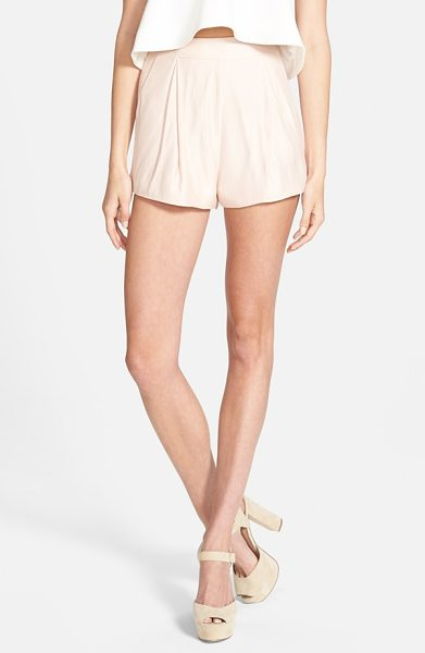 Cameo begin again pleated shorts in dusty pink - Gentle pleats add dapper definition to supersoft...