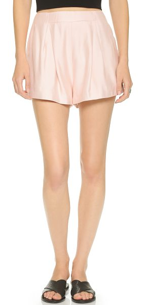 Cameo Begin again shorts in dust pink - Sharp pleats lend a formal touch to these flared Cameo...