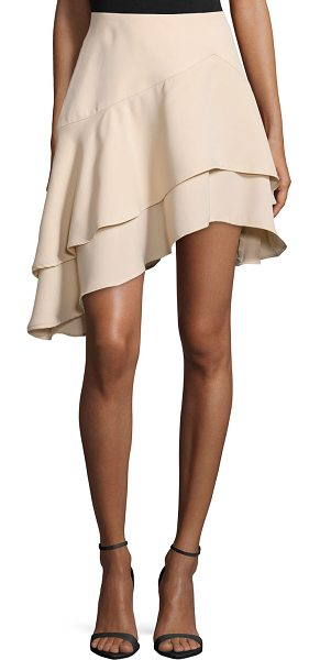 """CAMEO Easy love asymmetric-layer skirt in apricot (nude) - Cameo """"Easy Love"""" skirt. Mid rise. A-line silhouette...."""