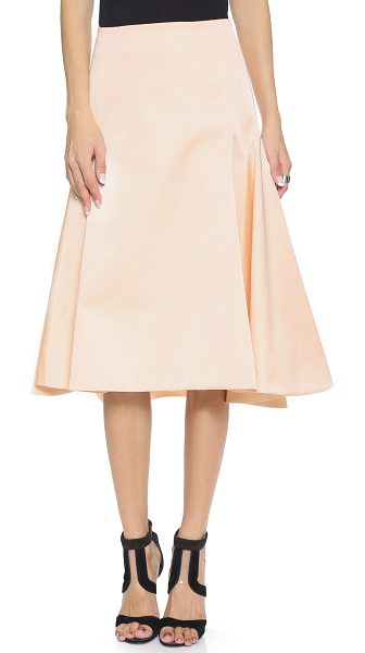Cameo First fires skirt in shell - Flared panels and a heavy fabric create structured...