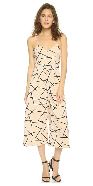 Cameo Power trip jumpsuit in geo beige - A relaxed, printed Cameo jumpsuit with cropped trousers....