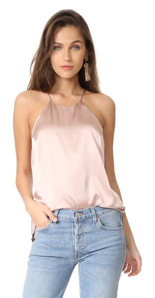 CAMI NYC elle top in rose dust - A lustrous top from CAMI NYC, styled with tonal lace...