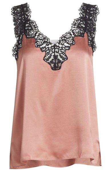 CAMI NYC lace-trimmed silk blouse in blushing