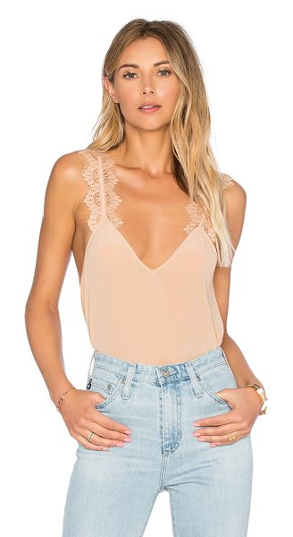 CAMI NYC The Chelsea Cami in beige - Silk blend. Dry clean only. Lace shoulder straps....
