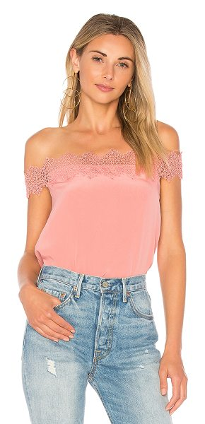 CAMI NYC The Dayna Tank in pink - Self: 100% silkLining: 100% poly. Dry clean only. Lace...