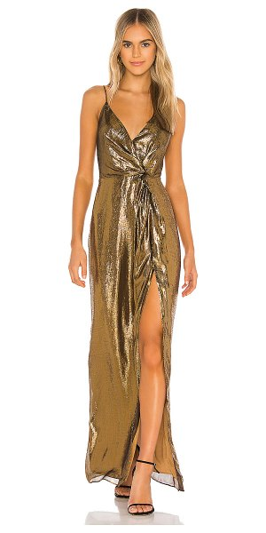 CAMI NYC the frances gown in gold lame
