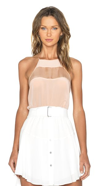 CAMI NYC The high top cami in beige - 100% silk. Dry clean only. Criss cross shoulder straps....