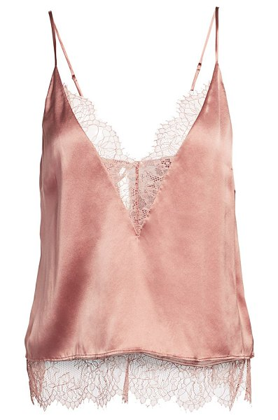 CAMI NYC the shay lace trim silk camisole in sienna with tonal lace