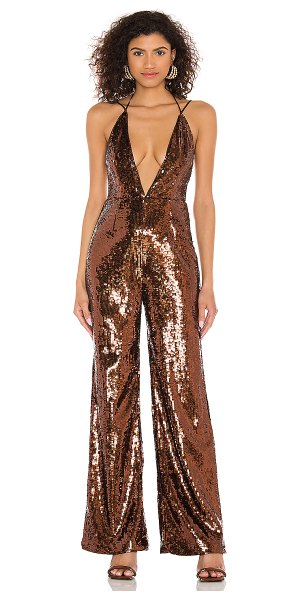 Camila Coelho callie jumpsuit in chocolate