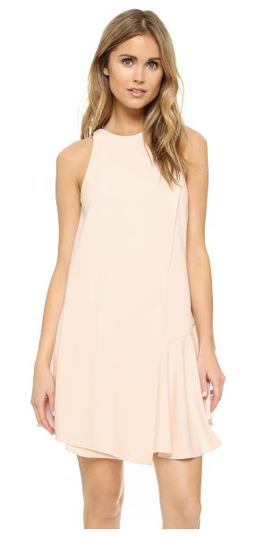 Camilla And Marc Harlequin dress in champagne - A draped overlay and flounced hem bring soft volume to...
