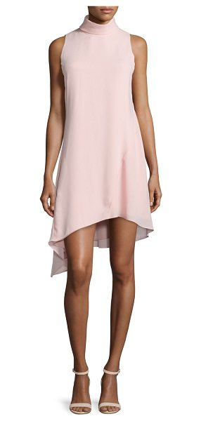 Camilla And Marc Sleeveless High-Neck Asymmetric Cocktail Dress in chalk pink - Camilla and Marc cocktail dress in flowy georgette....