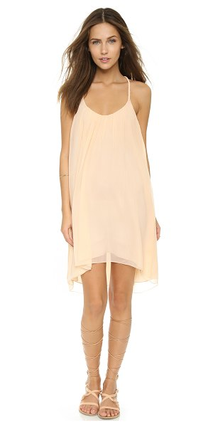 Candela Ariel dress in blush - Braided straps compose a racer back on this airy Candela...