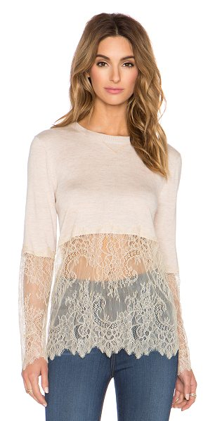 Candela Milton top in blush - Cotton blend. Hand wash cold. Lace accent. CAND-WS19....