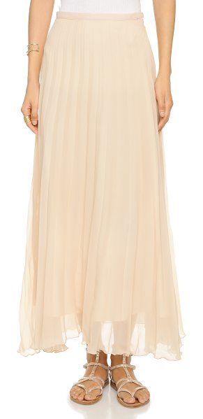 Candela Serenity skirt in blush - Accordion pleats add elegant volume to this long, breezy...