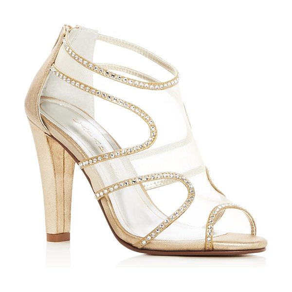 Caparros Desire Rhinestone Embellished High Heel Sandals in gold - Caparros Desire Rhinestone Embellished High Heel Sandals-Shoes