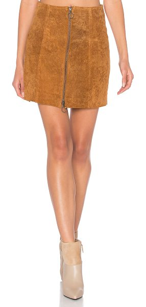 Capulet A Line Zip Skirt in cognac - Self: 100% leatherLining: 100% poly. Professional...