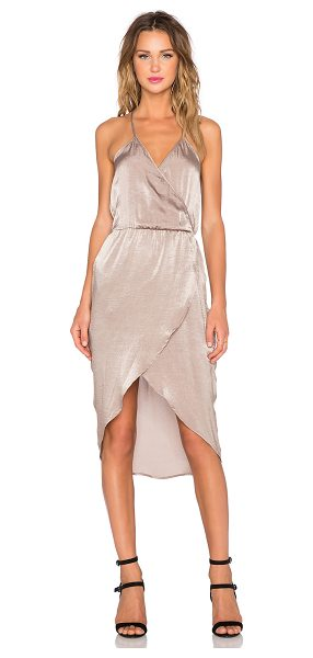 Capulet Cross Over Front Dress in taupe - Shell & Lining: 100% poly. Dry clean only. Unlined....