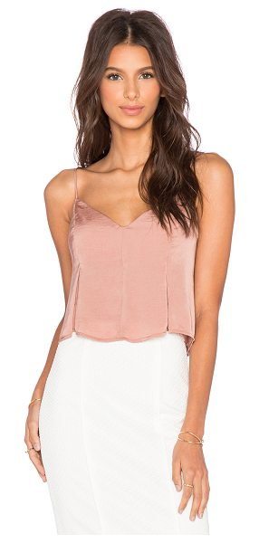 Capulet Flared cropped cami in beige - Poly blend. Dry clean only. Adjustable shoulder straps....