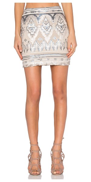 Capulet High waist mini skirt in beige - Shell: 50% poly 50% spandexLining: 100% poly. Dry clean...