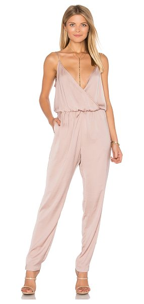 Capulet James Jumpsuit in blush - Self & Lining: 100% poly. Dry clean only. Elastic waist....