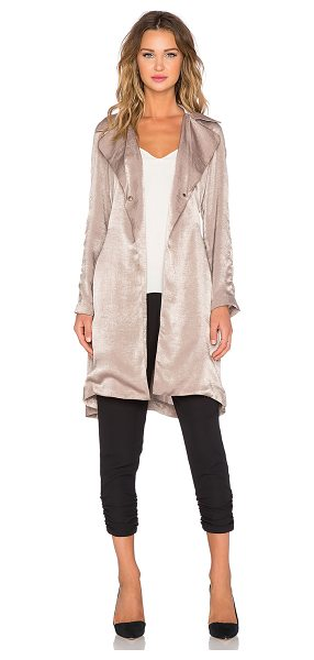 CAPULET Lightweight soft trench - 100% poly. Dry clean only. Front snap closures. Self tie...