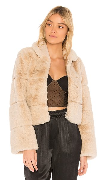 Capulet Lina Faux Fur Puffer in cream - Faux Fur: 100% acrylicLining: 100% poly. Dry clean only....