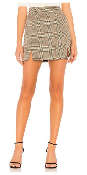 Capulet rosa skirt in tobacco glen plaid