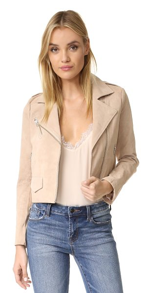 Capulet stella moto jacket in blush - A cropped Capulet moto jacket crafted in soft suede....
