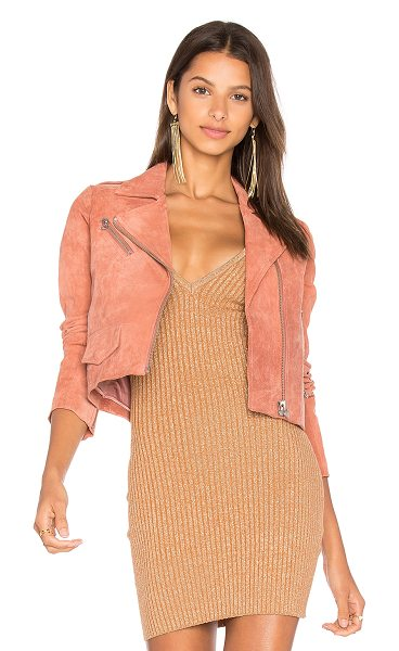 Capulet Stella Suede Moto Jacket in terracotta - Self: 100% leatherLining: 100% poly. Professional...