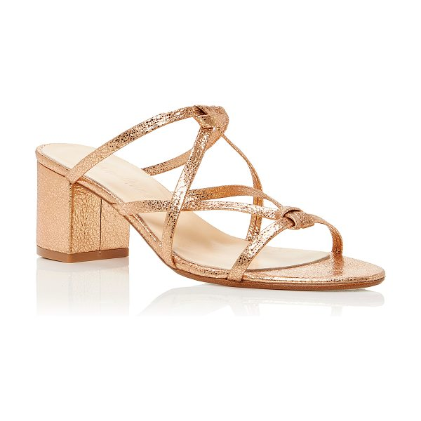 Carmelinas Ibiza Sandal in bronze - These *Carmelinas* Ibiza Sandals are rendered in cracked...