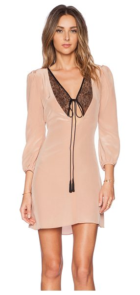 Carmella Rosalie dress in blush - Poly blend. Unlined. Neckline tie closure. Lace panel...