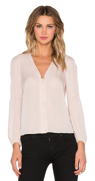Carmella Tiesa blouse in blush - 100% silk. Dry clean only. Front button closures....