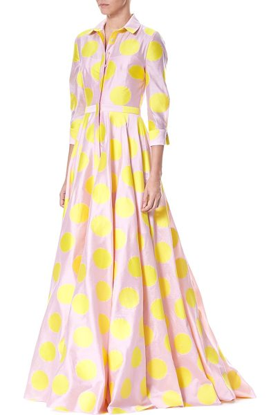 CAROLINA HERRERA polka dot trench gown - Polka dots add quirky accents to traditional gown. Spread...