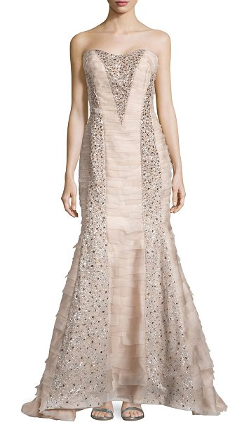 CAROLINA HERRERA Strapless beaded organza gown - Carolina Herrera evening gown in layered organza with...