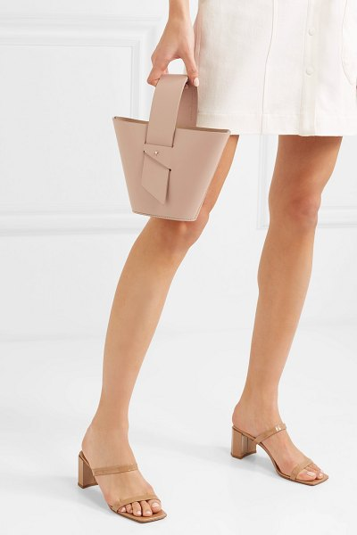Carolina Santo Domingo amphora mini leather tote in blush - After achieving much success designing STAUD's cult...