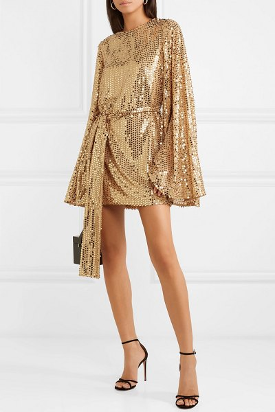 Caroline Constas anya sequined georgette mini dress in gold - Caroline Constas' 'Anya' mini dress is made from gold...