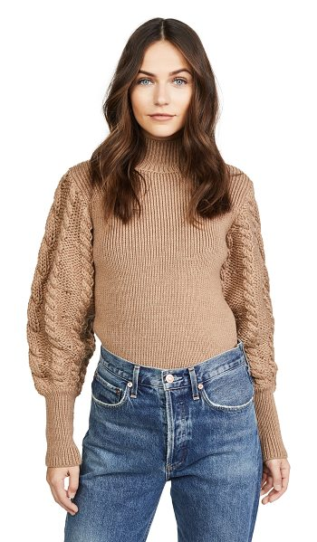 Caroline Constas chunky cable knit sweater in camel - An oversized Caroline Constas sweater in a soft, chunky...