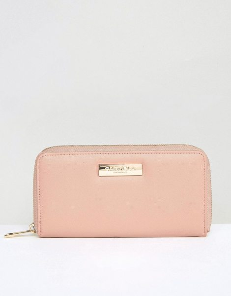 Carvela Kurt Geiger Alis Zip Around Purse in pink - Wallet by Carvela, Textured faux-leather outer,...
