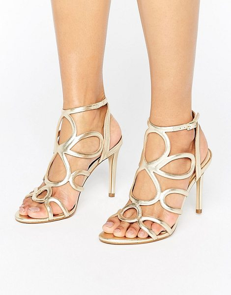 "CARVELA KURT GEIGER Gabby Gold Leather Heeled Sandals in gold - """"Sandals by Carvela, Leather upper, Ankle-strap..."