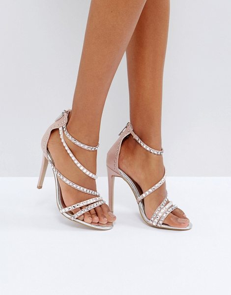 Grass Embellished Gem Strappy Heeled Sandals - Nude Carvela P4bQbo