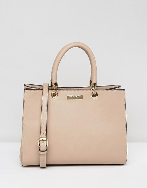 Carvela Kurt Geiger Dina Tote in beige - Cart by Carvela, Smooth faux-leather, Fully lined, Twin...