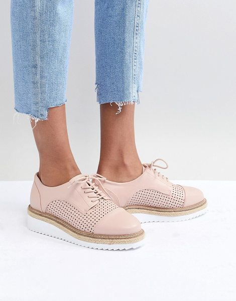 Carvela Kurt Geiger eva rope lace up flat shoe in beige - Shoes by Carvela, Sweet looks from the ground up,...