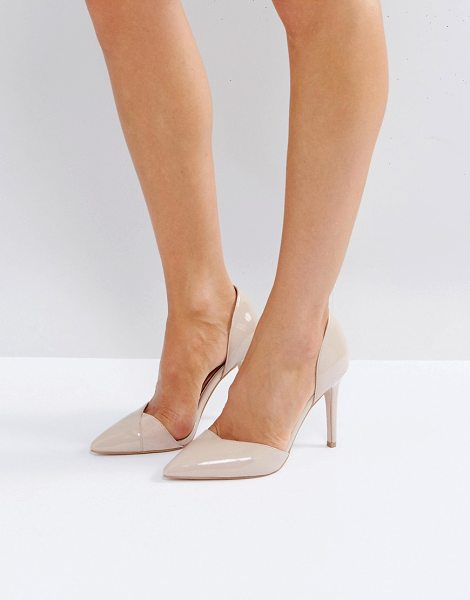 Carvela Kurt Geiger kestral point high heels in nudepatent - Shoes by Carvela, Suede upper, Clear panels, Slip-on...