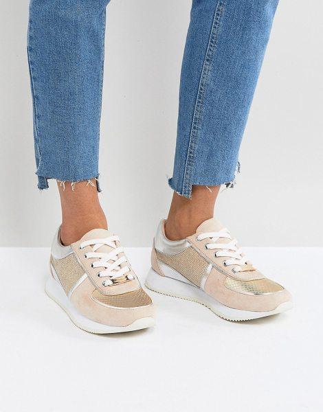 Carvela Kurt Geiger metallic snake runner sneaker in gold - Shoes by Carvela, Some serious daytime inspiration right...