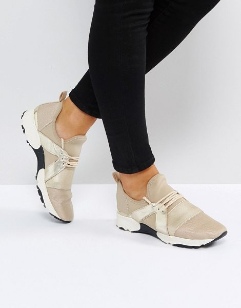 Carvela Kurt Geiger Lamar Chunky Sole Sneakers in beige - Sneakers by Carvela, Mesh upper, Lace-up fastening,...