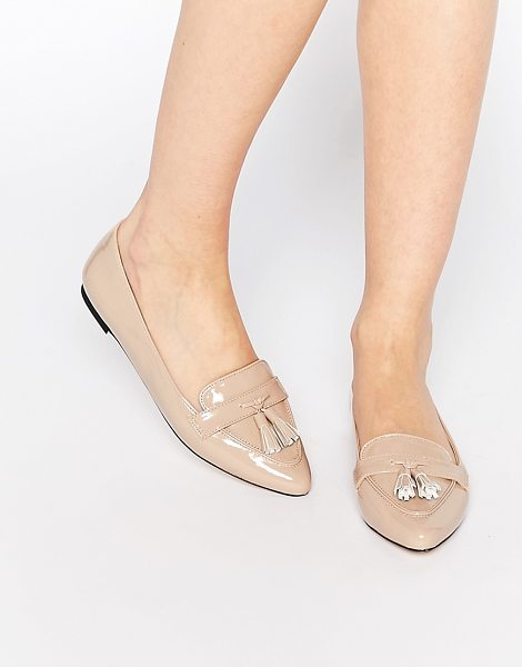 Carvela Kurt Geiger Magnum Tassel Point Loafers in beige - Shoes by Carvela, Leather-look upper, Patent upper,...