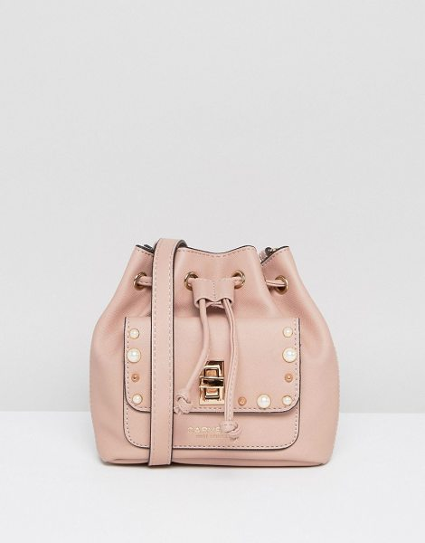 Carvela Kurt Geiger Mini Drawstring Crossbody Bag in pink