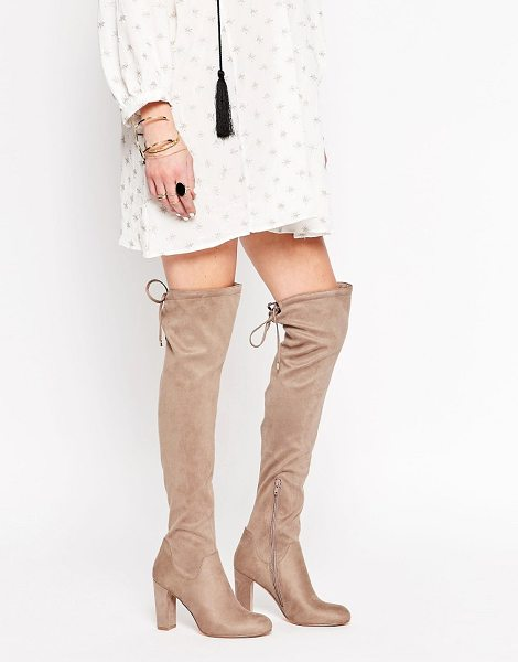 Carvela Kurt Geiger Pace Over The Knee Boots in beige - Shoes by Carvela, Faux suede upper, Over-the-knee...