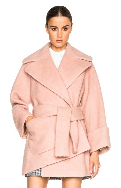CARVEN Court coat in pink - Self: 85% virgin wool 15% nylon - Lining: 65% acetate...
